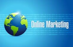 Online marketing globe sign illustration Royalty Free Stock Photo