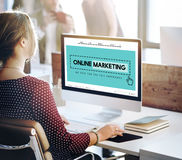 Online Marketing Homepage Website Digital Concept Royalty Free Stock Photos