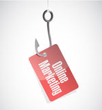 Online marketing hook tag sign Royalty Free Stock Image