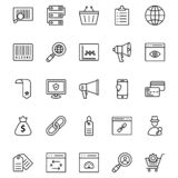 Online Marketing Isolated Vector Icons Set that can be very easily edit or Modified. Online Marketing Isolated Vector Icons Set vector illustration