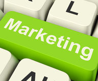 Online Marketing Key Can Be Blogs Websites Social Media And Emai Royalty Free Stock Image