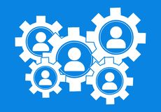 Online marketing. Marketin badges. Marketing staff. Advertising and sale. People icons. Vector illustration royalty free illustration