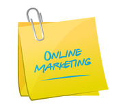 Online marketing memo post sign Stock Photo