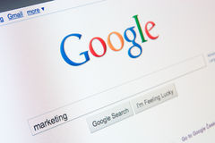 Online marketing met Google Royalty-vrije Stock Afbeelding