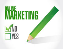 Online marketing negative sign Royalty Free Stock Images