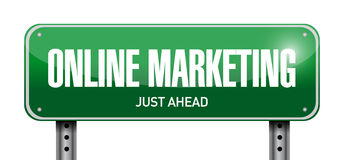 Online marketing post sign illustration Stock Images