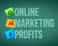 Online marketing profits and posts Stock Image