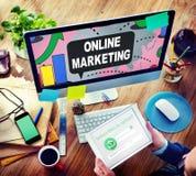 Online Marketing Promotion Branding Advertisement Concept Stock Photos