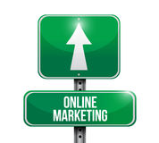 Online marketing road sign illustration Royalty Free Stock Image