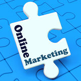 Online Marketing Shows Internet Strategies And Development Royalty Free Stock Photography
