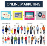 Online Marketing Strategy Branding Commerce Advertising Concept stock photo