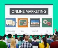 Online Marketing Strategy Branding Commerce Advertising Concept.  stock image