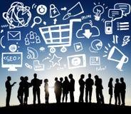 Online Marketing Strategy Branding Commerce Advertising Concept stock image