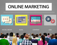 Online Marketing Strategy Branding Commerce Advertising Concept Royalty Free Stock Images