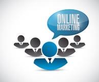 Online marketing teamwork sign Stock Photo