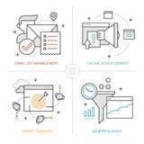 Online Marketing Technologieën royalty-vrije illustratie