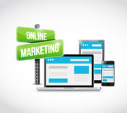 Online marketing technology concept sign Royalty Free Stock Images