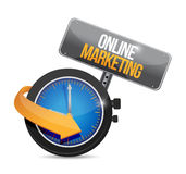 Online marketing time concept sign Stock Image