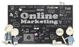 Online marketing Z Biznesowymi mężczyzna Obrazy Royalty Free