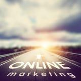 Online marketingowy tło zdjęcie royalty free