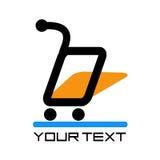 Online marktembleem Stock Afbeelding