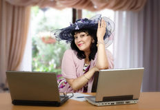 Online matchmaker posing in the office Stock Photography