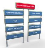 Online mededeling Stock Afbeeldingen