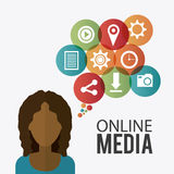 Online media design. Royalty Free Stock Photo