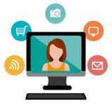 Online Media ontwerp royalty-vrije illustratie