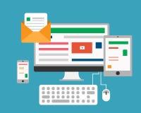 Online Media Web vector illustratie