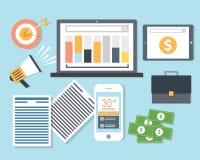 Online Media Web Marketing royalty-vrije illustratie