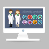 Online Medical Consultation Stock Photos