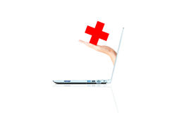 Online medical services concept Royalty Free Stock Images