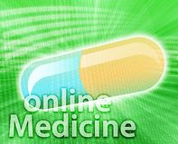 Online Medicine royalty free illustration