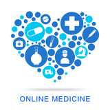 Online Medicine Indicates Web Site And Antibiotic Royalty Free Stock Photography