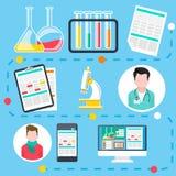 Online medisch overleg en diagnose vector illustratie