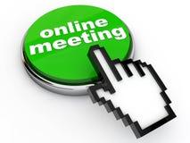 Online Meeting vector illustration