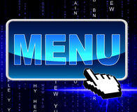 Online Menu Represents World Wide Web And Dining Royalty Free Stock Photo