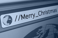 Online Merry Christmas Royalty Free Stock Image