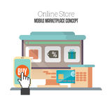 Online Mobiele Opslag Stock Foto's