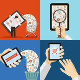 Online Mobile Marketing Sale and Buy Concept Retro Royalty Free Stock Image