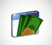 online mobile payment concept isolated Stock Image