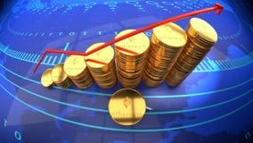 Online moneta, cyfrowa crypto waluta, ethereum, bitcoin alternatywa ilustracja wektor