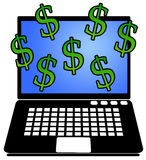 Online money Stock Photos
