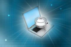Online money concept Royalty Free Stock Photos