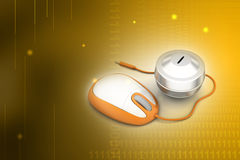 Online money concept Stock Photo