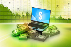 Online money concept Stock Photography