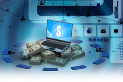 Online money concept Stock Images