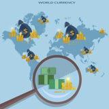 Online money concept transfer transactions financing cash Stock Images