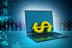 Online money making concept Royalty Free Stock Photos